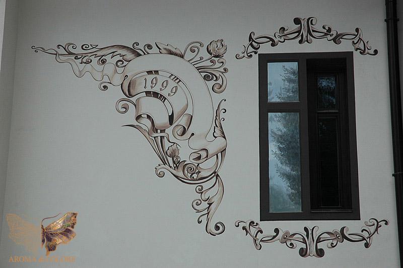 Роспись по фасадам домов фото