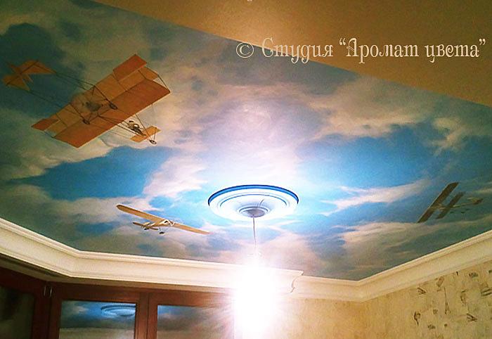 Роспись потолка в стиле Ар Деко